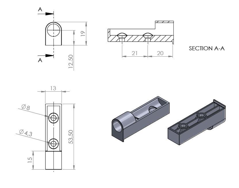2 stück softclose türdämpfer mit linearer montageplatte